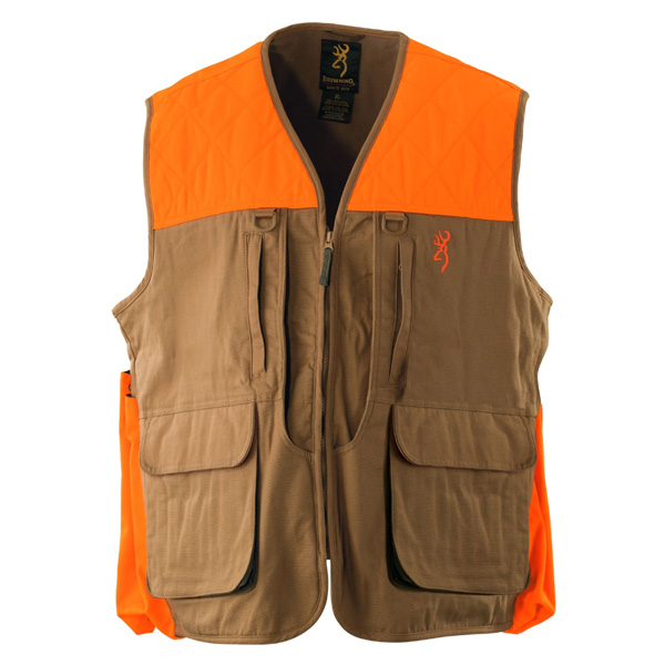 【ブローニング】 【ベスト】アップランド キャンバスベスト US Sサイズ Mサイズ オレンジ ブラウン 【BROWNING シューティング 狩猟 ハンティング メンズ】