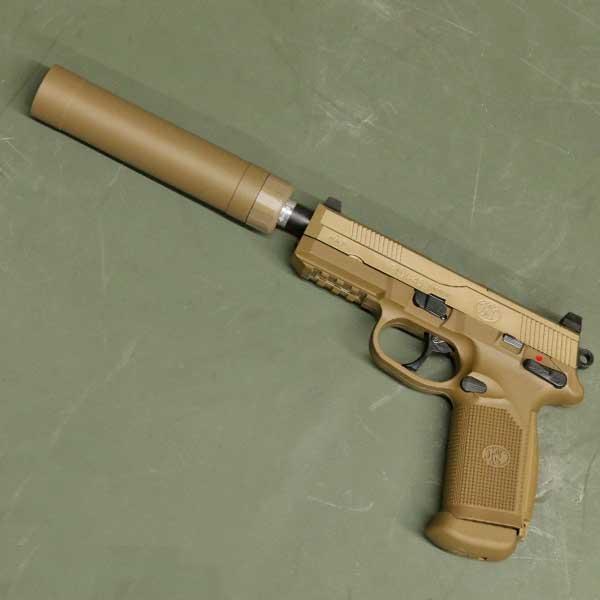 【サイバーガン】【ガスガン】FNX-45 タクティカル ガスブローバック ピストル デザートカラー 専用キャリングケース サプレッサー付き 【Cybergun tactical ミリタリー】