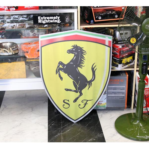 【フェラーリ】【メタル看板】フェラーリ 大型 メタルサイン 82×60cm アルミ製【インテリア 壁掛け 輸入雑貨 ガレージ】