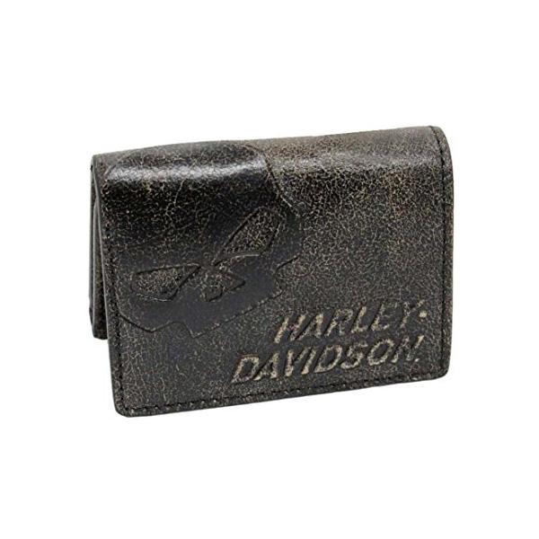 【ハーレーダビッドソン】 【財布】 ウィリーGスカル 3つ折り財布 レザー(本革) 【アパレル ウォレット】