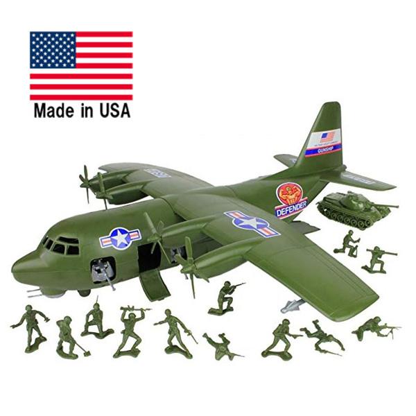 アメリカ巨大軍用機 ハーキュリーC-130 プレイセット【ミリタリー 航空機 米軍 メイドインアメリカ トイ おもちゃ】