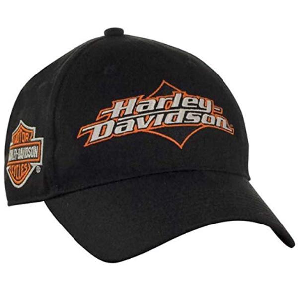 ストアー ハーレー刺繍ロゴキャップ ハーレーダビッドソン 帽子 激安格安割引情報満載 キャップ 刺繍ロゴキャップ メンズ Harley-Davidson ブラック 野球帽