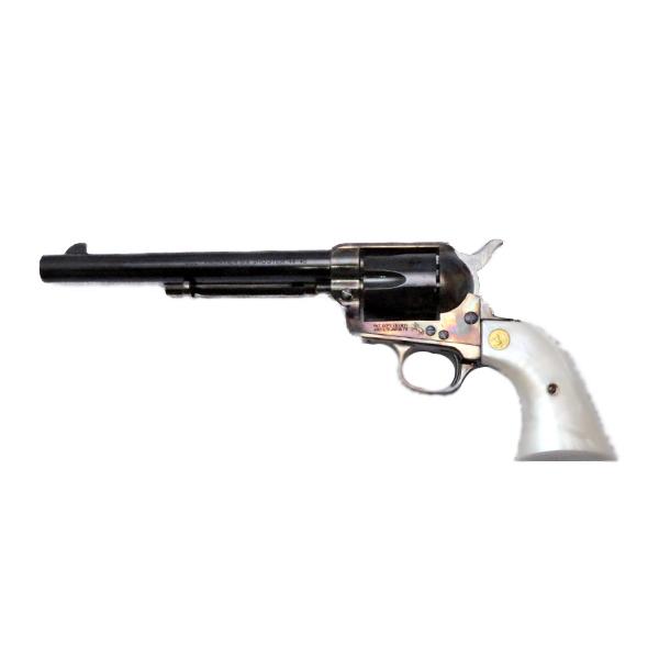 ハートフォード 発火式モデルガン コルト SAA キャバルリー (7.5インチ) メッキ ケース ハードン カスタム ? HWS COLT リボルバー ミリタリー 銃 ガン