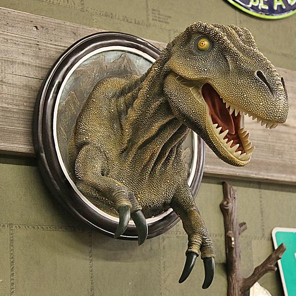 【壁掛インテリア】高品質 ティラノサウルス T-REX ウォールハンギング【恐竜 像 フィギュア インテリアアイテム】