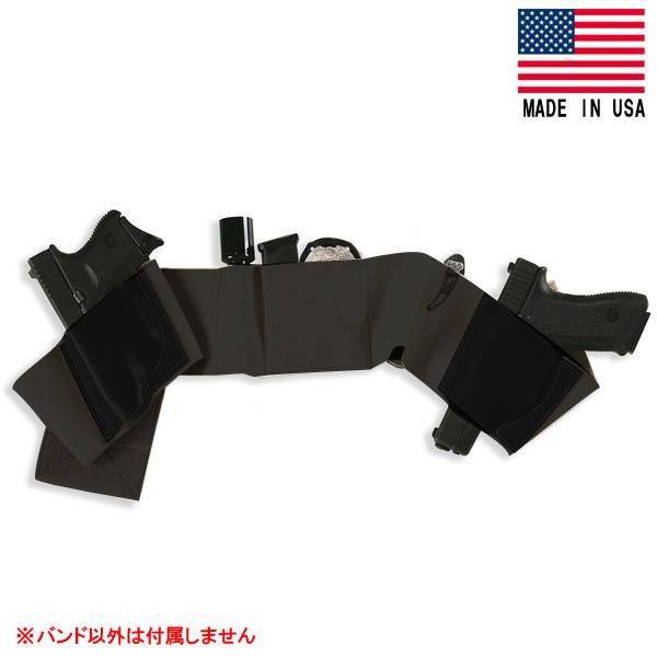 【ガルコ】【ホルスター】アンダーラップスベリーバンドホルスター ラージサイズ ブラック【GALCO 腹巻き アメリカ製】