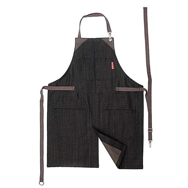 【Under NY SKY】【エプロン】デニム スプリットレッグ エプロン ブラック メンズ レディース【 アウトドア BBQ バーベキュー 料理 キッチン アメリカ】