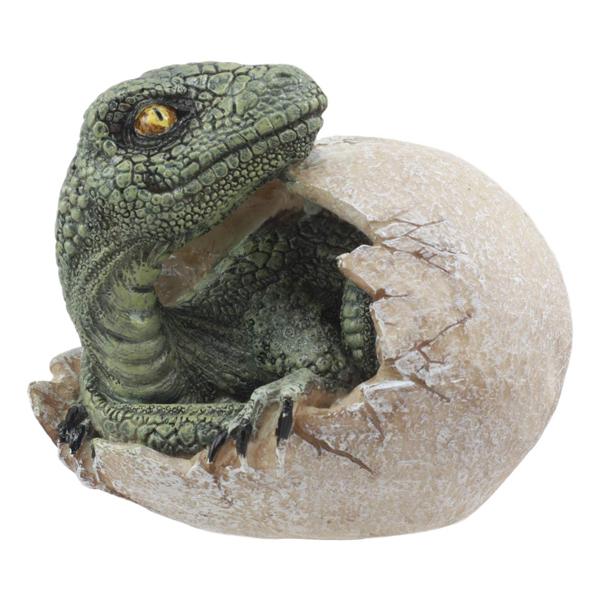 【オブジェ】孵化した恐竜 ダイナソー ベイビー【Jurassic エッグ たまご 卵 フィギュア インテリア 雑貨 置物】 ◇ クリスマス プレゼント ギフト