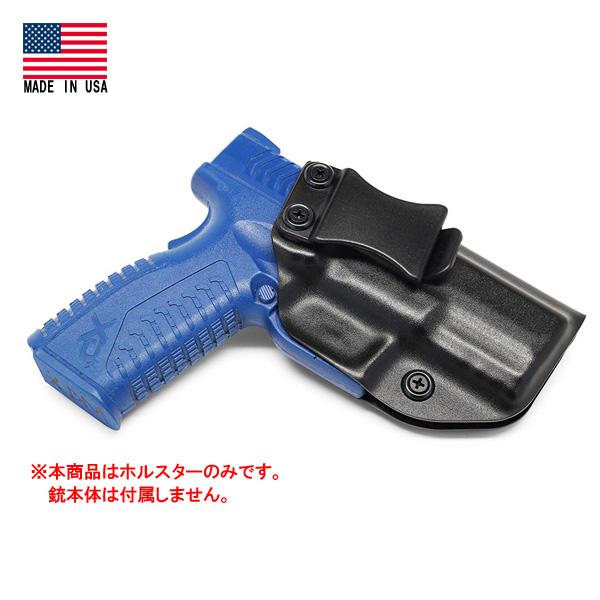 IWB ホルスター スプリングフィールドXDM 3.8 コンパクト用 カイデックス素材 米国製 実銃用 ブラック 右利き ■ 実物用 サバゲー ミリタリー Springfield XD(M) 3.8