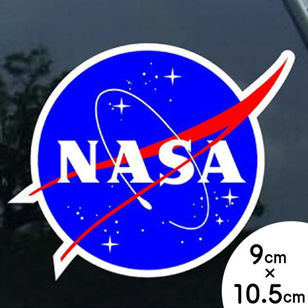 【在庫あり・即納】【NASA】USA スペース コスモ ロゴ ステッカー 大サイズ【デカール 多目的シール カーステッカー 】