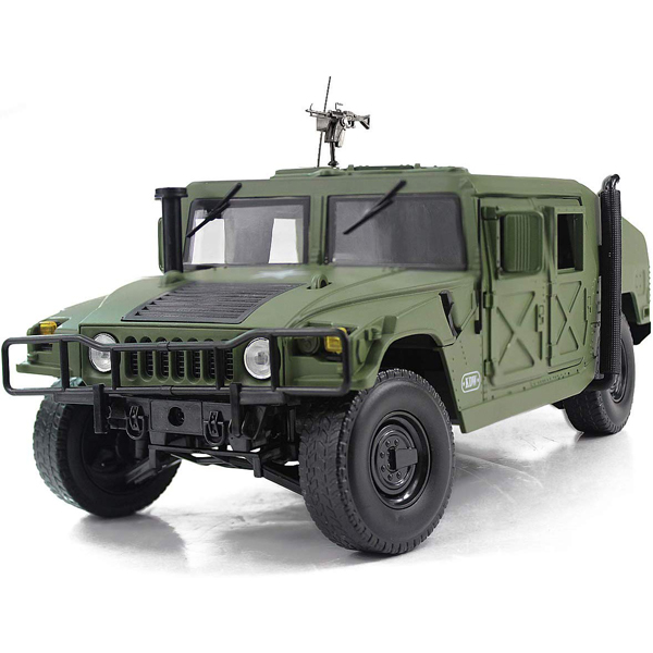 ミニカー ハンヴィー バトルフィールド ビークル 1:18スケール ■ KDW Humvee ハンビー 米軍 アメリカ軍 ミリタリー トイ おもちゃ 車