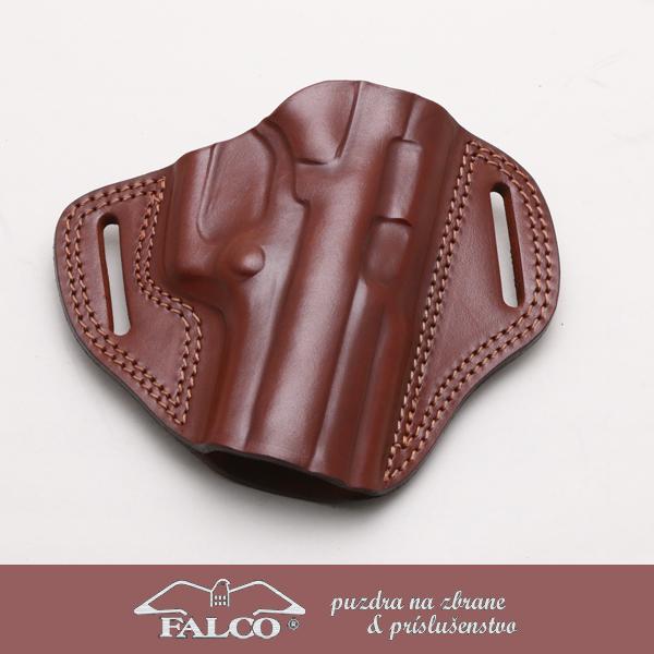 【送料無料】【ホルスター】Falco(ファルコ) レザーオープントップべルトホルスター ベレッタクーガー用 ブラウン 右利き用【本革】 【181SS15】