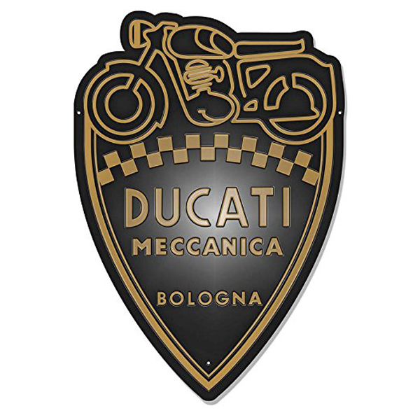 【再入荷】【ブリキ看板】【DUCATI】ドゥカティ エンボス ブリキ看板 (バイク メカニカル meccanica) メタルプレート【インテリア・壁掛け】