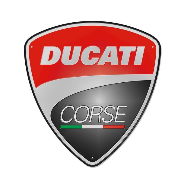 【再入荷】【ブリキ看板】【DUCATI】ドゥカティ エンボス ブリキ看板 (コルセ corse) メタルプレート【インテリア・壁掛け】