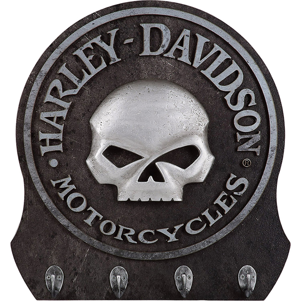 【再入荷】【インテリア・雑貨】ハーレーダビッドソン スカルキーラック(キーフック) HDL-15313【Harley-Davidson】【帽子掛け 小物掛け】