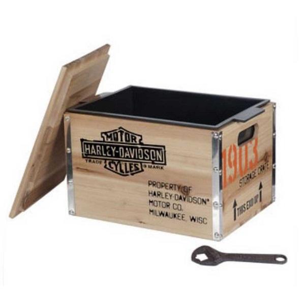 【送料無料 在庫あり 即納】【Harley-Davidson】ハーレーダビッドソン 1903 木箱型クーラーボックス【アウトドア・雑貨】