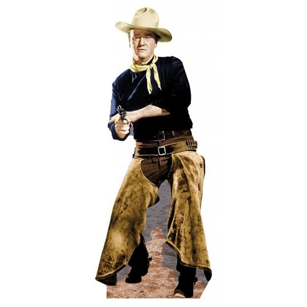【アメリカ製】【デューク】ジョンウェイン 革パンツ 等身大パネル【輸入雑貨・インテリア】