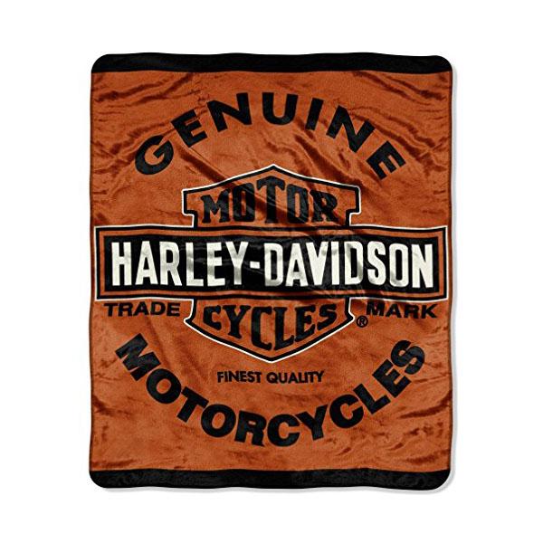 【Harley-Davidson】 ハーレーダビッドソン バー&シールド マイクロラッセルブランケット 【寝具 毛布 ひざ掛け】 152×117cm