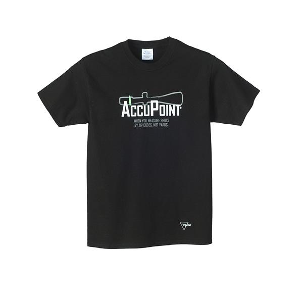 【Trijicon (トリジコン)】 AccuPoint コットン 半袖Tシャツ Sサイズ ブラック 【メンズ ファッション ミリタリー サバゲー】