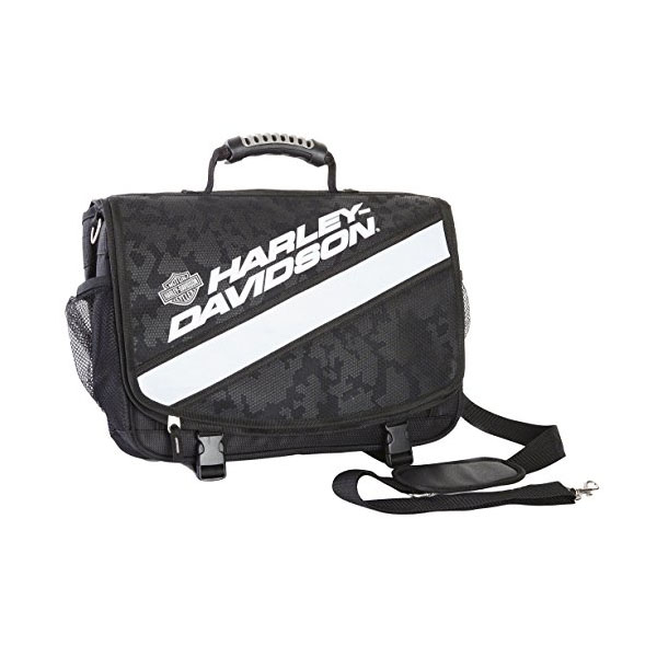 【送料無料即納】【Harley-Davidson】ハーレーダビッドソン 反射材付き メッセンジャーバッグ ブラック【アパレル ショルダーバッグ ビジネスバッグ】