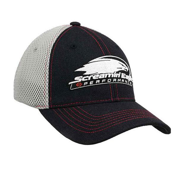 【Harley-Davidson】 ハーレーダビッドソン Screamin' Eagle メッシュ ベースボールキャップ ブラック×グレー【帽子 野球帽 スクリーミンイーグル】