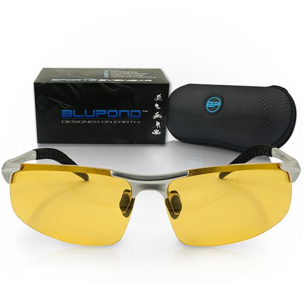 【BLUPOND】 偏光 メタルフレーム スポーツ サングラス 【運転 釣り ゴルフ シューティング フィッシング ハンティング スキー】