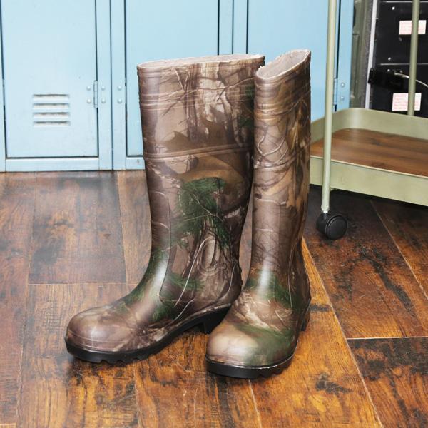 【ITASCA】メンズ 長靴(レインブーツ・アウトドアブーツ) REALTREE (リアルツリー柄) 26cm/27cm/28cm/29cm 【梅雨 アウトドア 釣り ラバーブーツ】