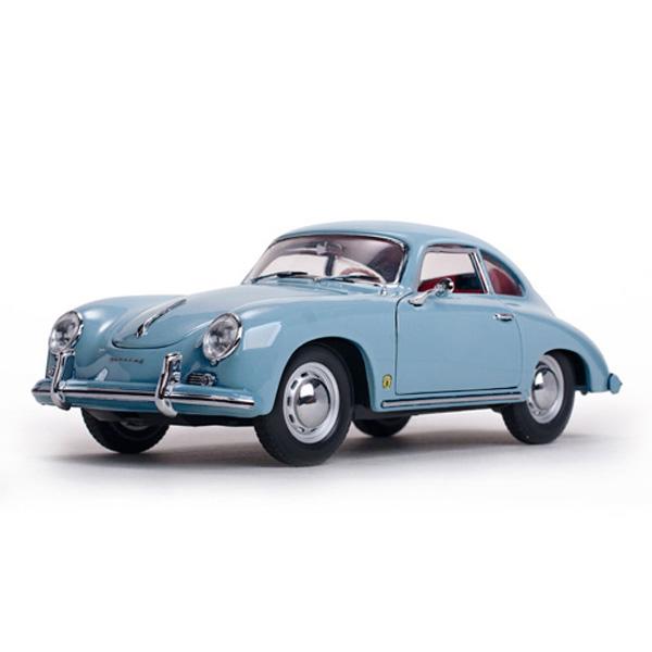 【Porshe】 1957 ポルシェ 356A 1500 GS Carrera GT クーペ マイセンブルー 1:18スケール 【sun star ミニカー ブルー メタル ダイキャストミニカー】