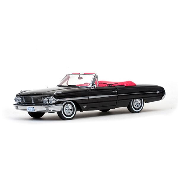 【FORD】 フォード 1964 ギャラクシー500/XL オープンコンバーチブル レイブンブラック 1:18スケール 【sun star ミニカー ブラック】