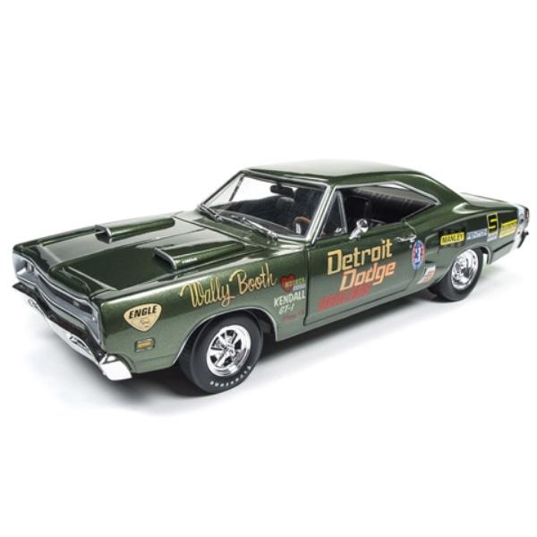 【DODGE】ダッジ コロネット スーパービー 1969 1:18スケール グリーン 【auto world オートワールド ミニカー ダイキャストカー】