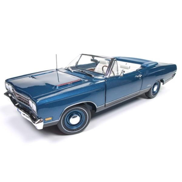 【plymouth】プリムス プリマス GTX 1969 1:18スケール ブルー 50周年記念 【auto world オートワールド ミニカー ダイキャストカー】