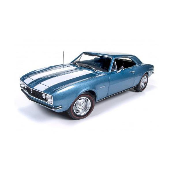 【Chevrolet】【Chevy】シボレー シェビー カマロ Z28 1967 1:18スケール ブルー 50周年記念 【auto world オートワールド ミニカー ダイキャストカー】