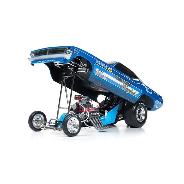 【plymouth】プリムス プリマス クーダ ファニーカー 1970 1:18スケール ブルー 【auto world オートワールド ミニカー ダイキャストカー】