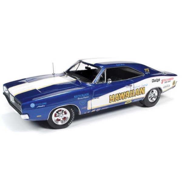 【DODGE】ダッジ チャージャー R/T 1969 1:18スケール ブルー ハワイアン 【auto world オートワールド ミニカー ダイキャストカー hawaiian】
