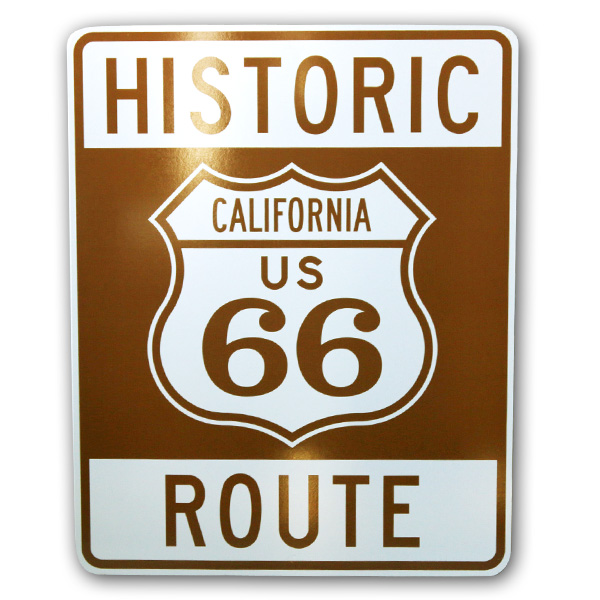 HISTORIC ROUTE CALIFORNIA US 66 プレート 【インテリア ブリキ ティンサイン 看板 アメリカン雑貨 道路標識 ルート66】
