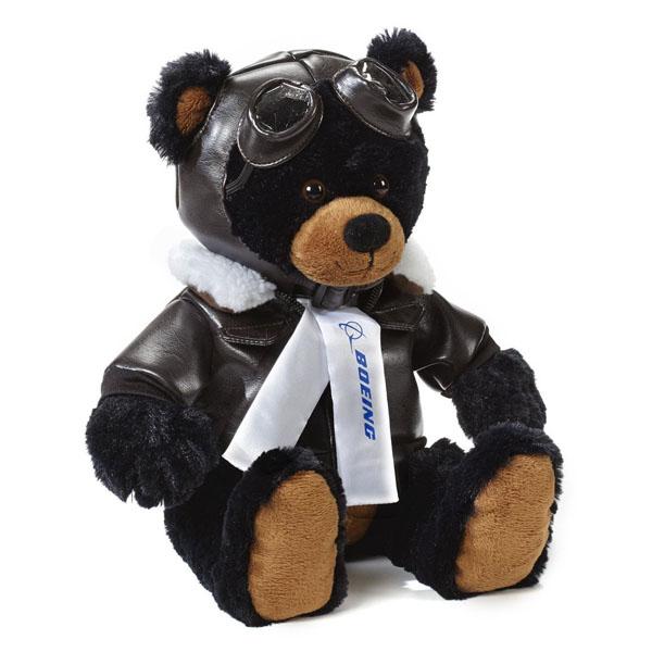 【在庫あり・即納】【BOEING (ボーイング)】 飛行家 ブラックベア ぬいぐるみ 大 【雑貨 動物 クマ 黒 テディベア】