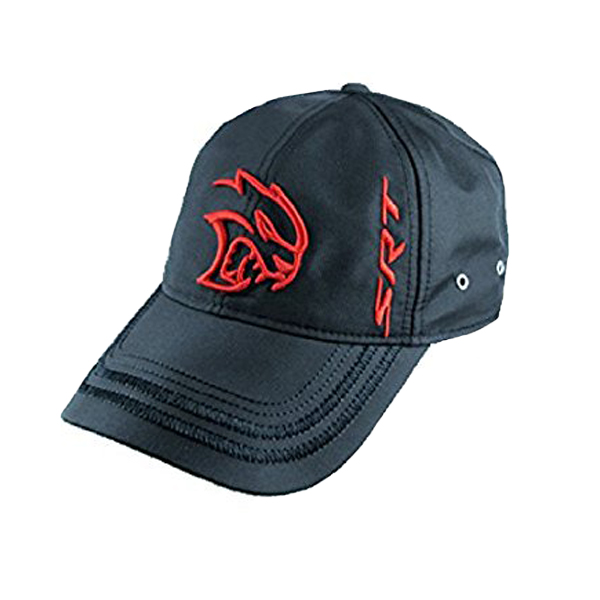 【Dodge】 ダッジ SRTヘルキャット 刺繍ロゴキャップ メンズ フリーサイズ【帽子 ベースボールキャップ BASEBALL CAP ブラック】