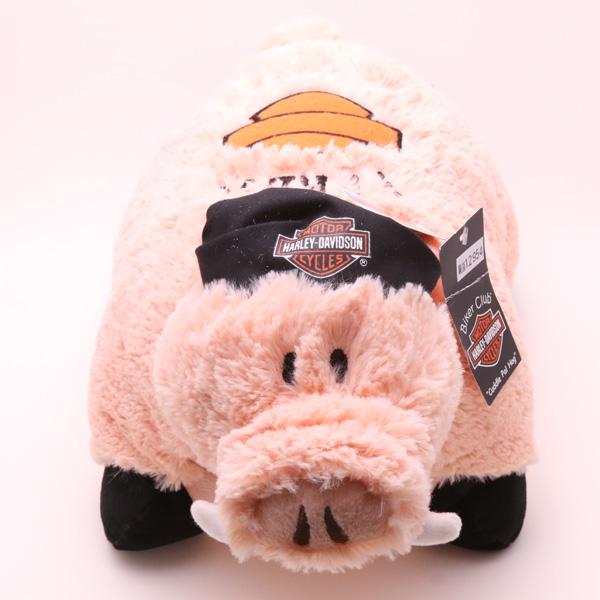 【Harley-Davidson】 ハーレーダビッドソン ホグ (ブタ) ぬいぐるみクッション 【雑貨】