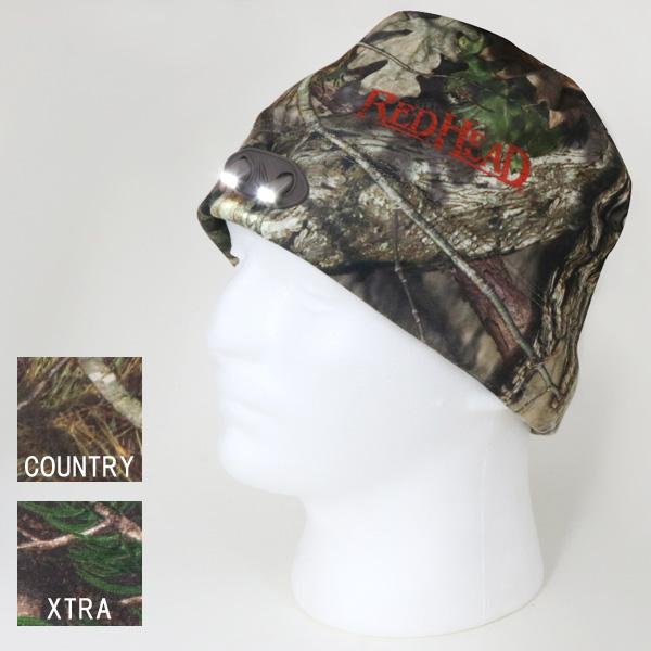 LEDライト付きの帽子 【RED HEAD】 レッドヘッド LEDライト付き ビーニー リアルツリー モッシーオーク 【帽子 キャップ アウトドア】