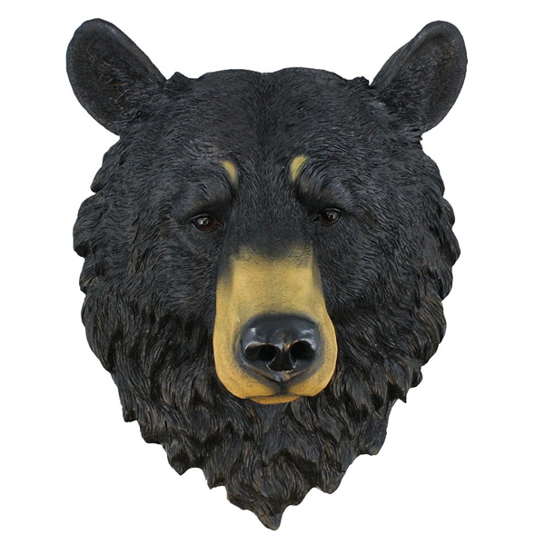 黒熊 ウォールハンギング オブジェ(レプリカ)【インテリア・壁掛け クマ】 (HD17807) 【181SS10】
