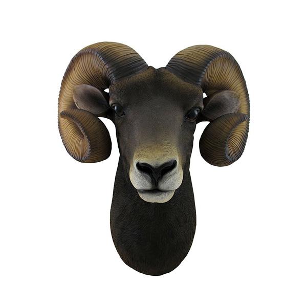 【再入荷】ラム ウォールハンギング オブジェ(レプリカ)【インテリア・壁掛け 羊】 【181SS15】