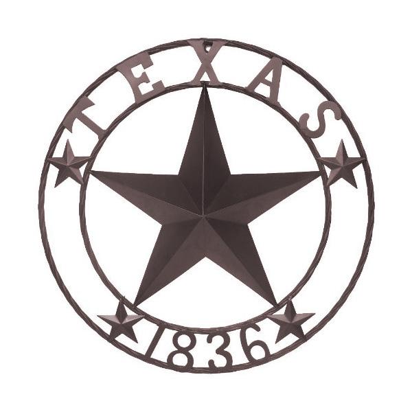 TEXAS 1836 メタル サークル スター オブジェ 【インテリア 雑貨 ウォール デコレーション 飾り テキサス】 (#21683)