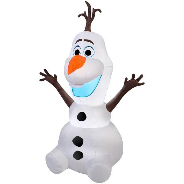 【アナ雪】 オラフ エアブロー 1.22m 【アナと雪の女王 OLAF ディズニー ディスプレイ クリスマス 玄関 キャラクター エアーバルーン】