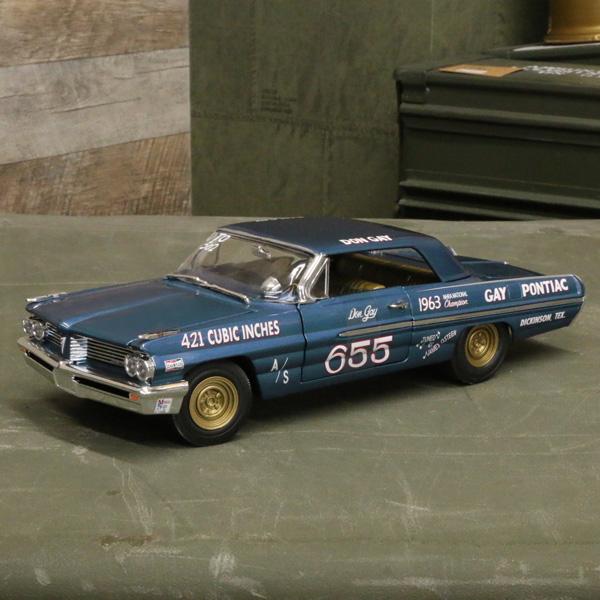 【ポンティアック】【ミニカー】1962 カタリナ スーパーデューティー 1/18スケール Don Gay 655 ブルー【GM pontiac ダイキャスト】