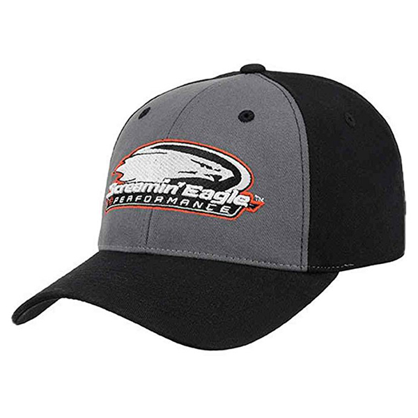【Harley-Davidson】 ハーレーダビッドソン Screamin' Eagle ベースボールキャップ ブラック×グレー【帽子 野球帽 スクリーミンイーグル】