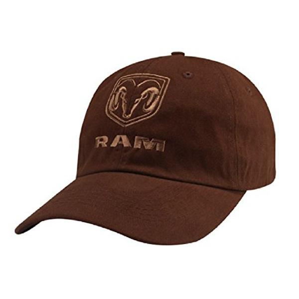 ラム刺繍ロゴコットンキャップ 【ラム】【帽子 キャップ】 フロント刺繍ロゴ入り キャップ メンズ ブラウン【RAM hat cap brown】