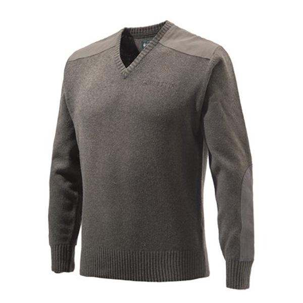 【ベレッタ】【セーター】ラムウール クラシック Vネックセーター ブラウン Mサイズ(US規格 日本規格のL~XL相当) 【BERETTA メンズ】
