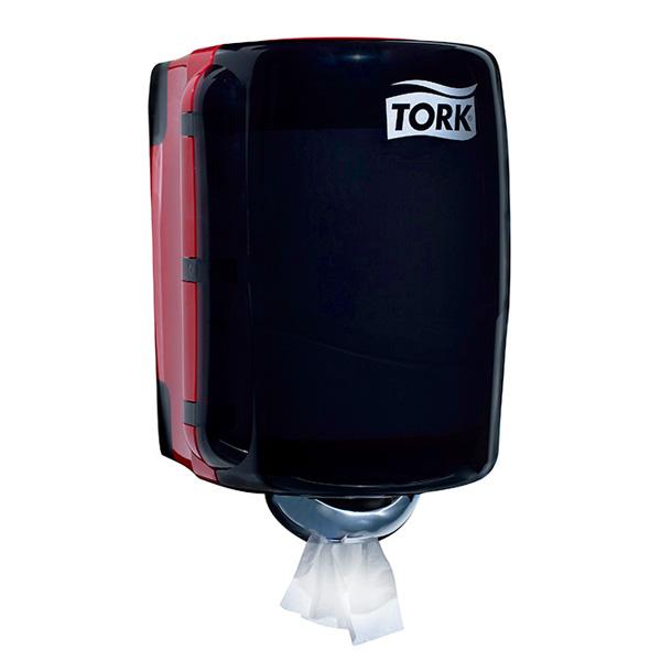 【トーク】 【ペーパーホルダー】センターフィード ディスペンサー レッド スモーク【TORK 手拭き ペーパーケース】