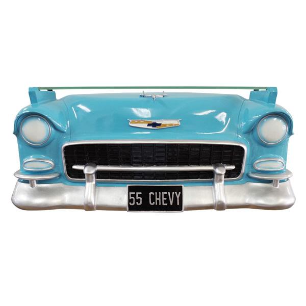 【ウォールシェルフ】カーシェルフ 55 シェビー ベルエア サックスブルー アメリカン クラシックカー【CHEVY SAX 雑貨 壁掛け 棚 ディスプレー オブジェ GM】