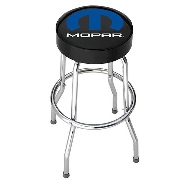 【モパー】ロゴ入り ガレージスツール 丸椅子【MOPAR 車 チェア インテリア ガレージ 雑貨】
