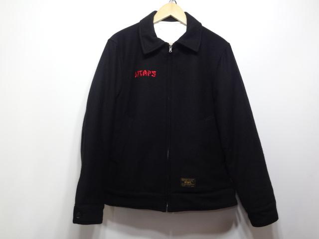 【中古】 Wtaps ダブルタップス 16AW TOUR JK ツアージャケット 刺繍 ナイロン サテン 162LTDT-JKM02 BLACK SIZE:S 送料無料 万代Net店